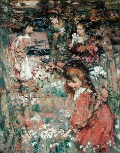 Spring's Awakening Wall Art & Canvas Prints by Edward Atkinson Hornel