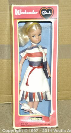 Pedigree Sindy Weekender boxed Doll. Condition is Near Mint in Good (cellophane is loose) box.