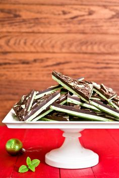 Grasshopper Chocolate Bark