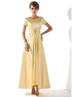 Yellow A-Line/Princess Scoop Neck  Mother of the Bride or Groom Dress   From JJ's House, Bridal & bridal accessories.  www.jjshouse.com   We ship to Australia.   Please mention that you found them thru Jevel Wedding Planning's Pinterest Account.  Keywords: #motherofbridedresses #motherofgroomdresses #jevelweddingplanning Follow Us: www.jevelweddingplanning.com  www.facebook.com/jevelweddingplanning/