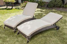 BuildDirect®: Patio Furniture Patio Furniture Monte Carlo Series 2 Piece Wicker Chaise Lounger Set