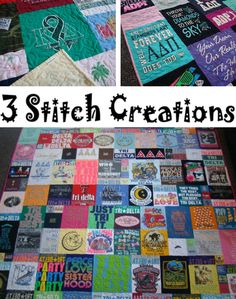 ❤❤ super sweet spotlight ❤❤ quilt crazy • quilt crush • quilt cuddly • quilt crafty!! 3 STITCH CREATIONS makes the best tee shirt quilts for perfect holiday gift giving!!!❤ christmas deadline: this saturday 10/19!! http://www.3stitchcreations.com/