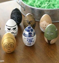 Star Wars Easter eggs - egg painting idea // Csillagok háborúja húsvéti tojások - kreatív tojásfestés ötlet // Mindy - craft tutorial collection // #crafts #DIY #craftTutorial #tutorial