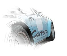 Porsche Carrera by illustrator Guillaume Lopez