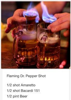 Flaming Dr. Pepper Shot # tipsy Bartender More