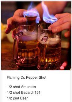 Flaming Dr. Pepper Shot # tipsy Bartender More