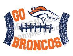 Denver Broncos Super Bowl XLVIII 2014 printable image DIY Instant Download Go Broncos vs Seahawks