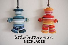little button man necklace. {tutorial}