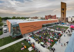 Aerial View - Exterior - Plaza - Lawrence Public Library - 2030 Architecture - Gould Evans