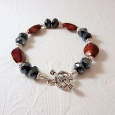 Red and Black Rondell Bracelet