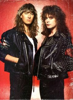 Joe Elliott and Rick Savage