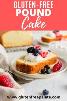 An easy recipe for a traditional gluten free pound cake that uses only 8 ingredients that most gluten free bakers have on hand. This pound cake is buttery and has the perfect crumb. Gluten Free Pound Cake, Gluten Free Bars, Easy Gluten Free Desserts, Gluten Free Brownies, Pound Cake Recipes, Gluten Free Baking, Gluten Free Chocolate Cupcakes, Gluten Free Cupcakes, Fall Recipes