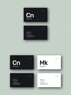 Element Business Card Template A minimal business card template in dark & light variations, inspired by the periodic table. Business Cards Layout, Minimalist Business Cards, Elegant Business Cards, Professional Business Cards, Creative Business Cards, Corporate Design, Business Design, Branding Design, Logo Design