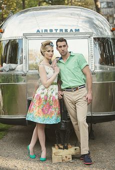 Part II of the gorgeous retro shoot by Carla Ten Eyck - the engagement party! Even more of the fabulous style of Part I with more colorful, vintage details! Photoshoot Themes, Alternative Wedding Dresses, Engagement Shoots, Engagement Pictures, Senior Pictures, Wedding Shoot, 50s Wedding, Up Girl, Glamping