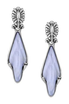 Carolyn Pollack Sterling Silver Blue Lace Agate Drop Earrings Is Now 53 Off Free Shipping On Orders Over 100