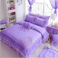 Upscale Luxury Cotton bedding sets girls Lace bedding set for princess bed Girls Bedding Sets, Cotton Bedding Sets, Nursery Bedding Sets, Pink Bedding, Duvet Bedding, Comforter Sets, Luxury Bedding, Ruffle Bedding, Bed Duvet Covers