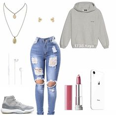 Jewellery For Lady - Boujee Outfits, Swag Outfits For Girls, Cute Swag Outfits, Teenage Girl Outfits, Cute Comfy Outfits, Teen Fashion Outfits, Teenager Outfits, Dope Outfits, Polyvore Outfits