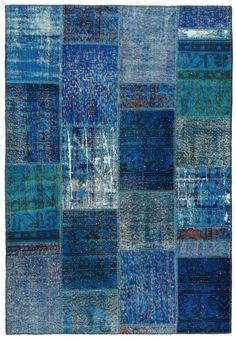 80x55 Inches Turkish Vintage Patchwork Carpet by VintageCarpets,