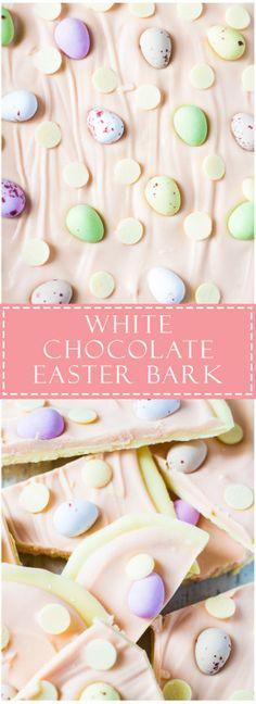 White Chocolate Easter Bark Recipe source: Marshas Baking  Mein Blog: Alles rund um Genuss & Geschmack  Kochen Backen Braten Vorspeisen Mains & Desserts!