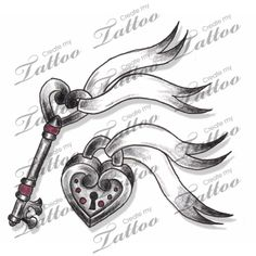 Marketplace Tattoo Couples or Friendship Lock & Key Set Tattoo #3962 | CreateMyTattoo.com