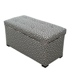 Take a look at this Black & White Towers Storage Trunk by S.O.L.E. on #zulily today!