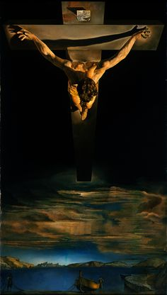 """Our fascination with the religious art of Salvador Dali began when we lived near the Metropolitan Museum of Art, and could visit his """"Crucifixion (Corpus Hypercubus)"""" on a regular basis. In Dali's Crucifixion series, Christ's body is healthy and athletic as he levitates above our world. It is that point of view, that makes """"Christ of Saint John of the Cross"""" today's art news of the week."""