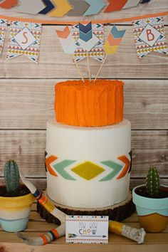 Tribal Little Brave Man themed baby shower via Kara's Party Ideas KarasPartyIdeas.com #tribalbabyshower (16)