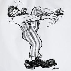 Es ist das nächste Cartoon von Hans Karl Stöckl auf T-Shirts und anderen Produkten erhältlich: Immer dieser Quirax mit den Schuhen! - z.B. auf einem Turnbeutel ... der kann ja auch zum Schuhbeutel werden ;-) Illustrator, Shoes, Cinch Bag, Graphics, Monochrome