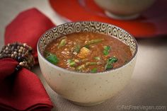 Ethiopian-Inspired Lentil Soup ~ This is a very complex and aromatic soup that gets its distinctive flavor from an equal amount of 11 different spices so that no one flavor predominates.