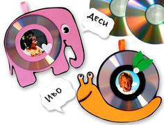 Детские поделки из старых CD 7