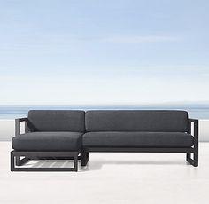 Aegean Aluminum Collection - Slate | RH