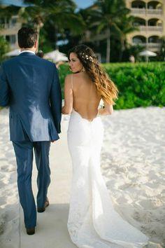 #helgaschaeferphotography #destinationwedding #beachwedding #turksandcaicos #gracebayclub #islandwedding #destination #beach #dress #backless #wedding #bride #groom