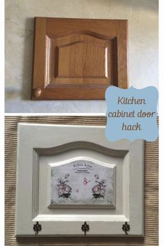 DIY French Vintage Kitchen Cabinet Makeover - DIY Kitchen Cabinet Makeover Before and After, by Pili from My Sweet Things, featured at FineCraftG - Cabinet Door Crafts, Cabinet Door Makeover, Kitchen Cabinet Doors, Painting Kitchen Cabinets, Diy Cabinets, Vintage Kitchen Cabinets, Diy Holz, Upcycled Furniture, Furniture Market
