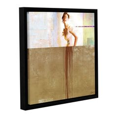 ArtWall Greg Simanson 'Dissolve Iii' Gallery-wrapped Floater-framed Canvas (14x14)
