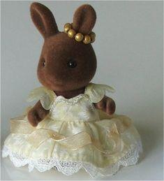 Disney Belle dress for a Sylvanian figure.
