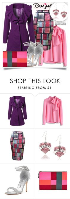 """""""Rosegal 2"""" by amra-hadzic ❤ liked on Polyvore featuring Chicwish, Manolo Blahnik, Anja, FOSSIL, outfit and rosegal"""