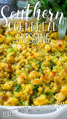 This old fashioned Southern cornbread dressing recipe is a classic that's a must-have for every Thanksgiving table.