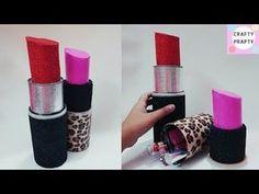 DIY Organizer/How to make Giant Lipstick/ DIY Lipstick Organizer/DIY Storage Box/ Lipstick Container - YouTube