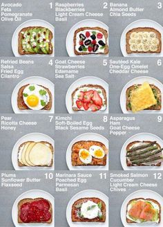 SUPER HEALTHY TOAST (For veganvegetarian plant base and non plant base or vegetarian)You do not. and Drink healthy lunch ideas Food 🥦🍎❤️🥰 Healthy Meal Prep, Healthy Snacks, Healthy Recipes, Healthy Workout Meals, Healthy Breakfast Recipes For Weight Loss, Healthy Packed Lunches, Diet Recipes, Healthy Nutrition, Easy Healthy Lunch Ideas