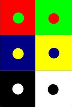 COMPLEMENTAIR CONTRAST= een tegenstelling met kleuren die tegenover elkaar op de kleurencirkel liggen