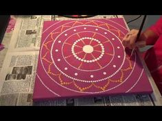 Dot painting mandala. Acrylic Painting. Process from beginning to end. - YouTube