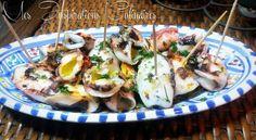 Chipirons a la plancha Dans la famille on apprécie la cuisine espagnole et les tapas, mon beau-f... Potato Salad, Samar, Seafood, Bbq, Healthy Recipes, Healthy Food, Fish, Chicken, Meat