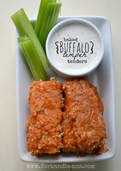 Greetings, Baked Buffalo Tempeh Tenders. Take me to your leader.