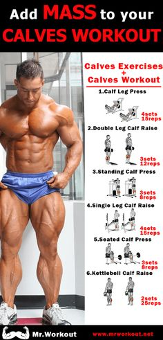 Calves are easily one of the most stubborn muscles on the body. But with the workouts I've put together you'll have bigger calves in no time. I've put together 5 of the best calves workouts for men and women that will help you get bigger calves in no Leg Workouts For Men, Gym Workout Tips, Weight Training Workouts, Chest Workouts, Training Plan, Leg Workout Routines, Workout Men, Muscle Fitness, Mens Fitness