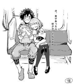 Boku no Hero Academia || Midoriya Izuku, Uraraka Ochako.