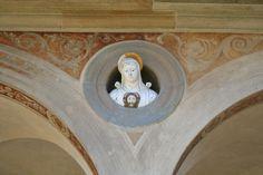 Certosa del Galluzzo, chiostro grande, la Veronica, di Giovanni della Robbia e aiuti (1523)