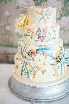 Bolo Pintado a mão    wedding cake