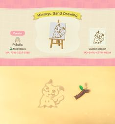 Been seeing a lot of sand drawings and wanted to make one. Animal Crossing 3ds, Animal Crossing Qr Codes Clothes, Animal Crossing Pocket Camp, Animal Drawings, Cute Drawings, Sand Drawing, Tumblr, Motif Acnl, Islands