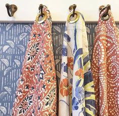 Half Moon wallpaper and Agave Americana linen from Lake August, alongside Carolina Irving Textiles and Peter Fasano