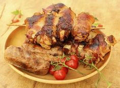 pollo envuelto en tocineta miel y mostaza Easy Cooking, Cooking Recipes, Beef Stroganoff, Recipe For Mom, Canapes, Light Recipes, Cilantro, Sweet Recipes, Tapas
